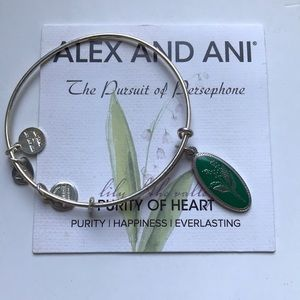 Alex and Ani Wire Bangle- Lily of the Valley